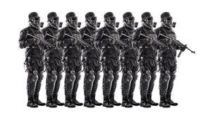 未来派纳粹战士小队  免版税库存照片