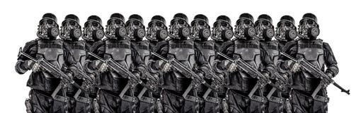 未来派纳粹战士小队  库存照片