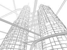 未来派行业摩天大楼 免版税库存照片