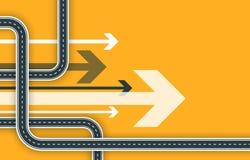 未来派路线图背景 Gps航海横幅 弯曲道路infographic模板 旅行和旅途路线 10 eps 向量例证
