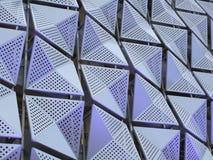 未来派金属几何金属有角阶 免版税库存图片