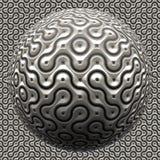 未来派金属球体 免版税库存照片