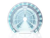 未来派隧道 向量例证