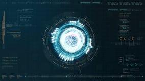 未来派HUD全息照相的电磁式机器 皇族释放例证