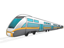 未来火车的例证 免版税库存图片
