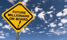 未来百万富翁在船上 库存照片