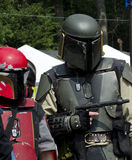 从未来的战士人,在节日的服装 免版税库存照片