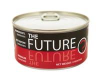 未来的概念。锡罐。 库存照片