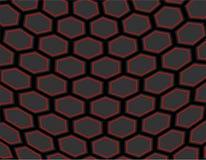 未来蜂窝六角抽象背景 库存图片