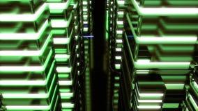 未来霓虹城市夜场面  Loopable 绿色 皇族释放例证