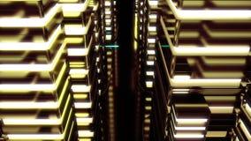 未来霓虹城市夜场面  Loopable 黄色 库存例证