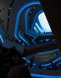 未来派内部被更新的购物中心 图库摄影