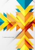 未来派几何形状,最小的设计 免版税库存照片