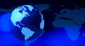 未来派地球世界背景 库存图片