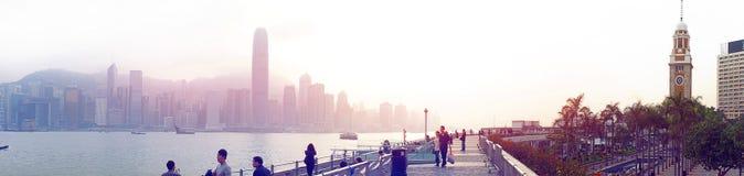 未来派城市香港 免版税库存照片