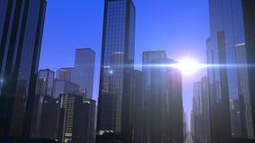 未来派城市驱动 向量例证