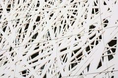 未来派墙壁设计以蜘蛛网形式 库存照片