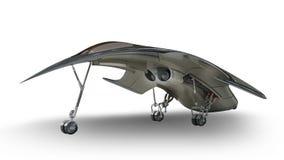 未来派外籍人3D军事太空飞船 免版税库存图片