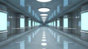 未来派大厅建筑学 免版税图库摄影