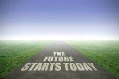 未来今天开始 免版税库存照片
