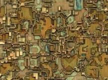 未来派工业城市摘要背景 免版税库存照片