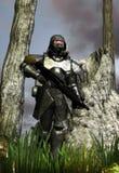 未来派战士 库存图片