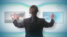 未来派技术概念 影视素材