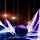 未来派技术波浪背景设计 免版税库存照片