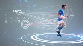 未来派技术田径运动员运动 向量例证