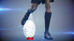 未来派技术田径运动员运动 库存例证