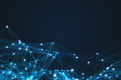 未来派技术连接形状 免版税库存照片