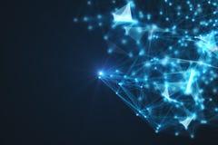 未来派技术连接形状 库存照片