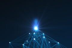 未来派技术连接形状 免版税库存图片
