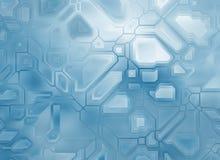 未来派抽象技术背景 数字式光滑的纹理 免版税库存照片