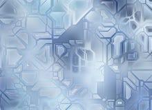 未来派抽象技术齿轮背景 数字式光滑的textur 库存照片