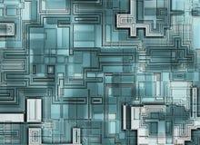未来派抽象背景。数字式光滑的纹理 免版税库存图片