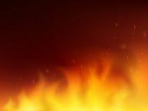 未来派抽象背景概念的火完善 库存例证