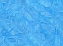 未来派抽象蓝色技术背景 数字式光滑的textur 图库摄影