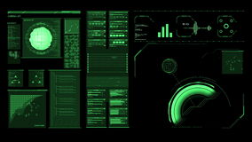 未来派接口高分辨率英尺长度  库存例证