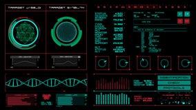 未来派接口|HUD|数字式屏幕 影视素材