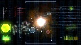 未来派控制板和科学幻想小说控制