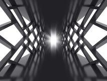 未来派黑暗的隧道 免版税库存图片