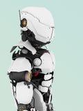未来派机器人。 图库摄影