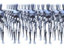 未来派机器人 免版税库存照片