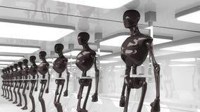 未来派机器人 库存例证