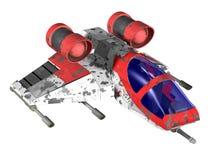 未来派攻击机 皇族释放例证