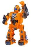 未来派橙色机器人 免版税库存图片