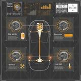 未来派用户界面 HUD UI 抽象真正图表接触用户界面 infographic的汽车 传染媒介科学摘要 免版税库存图片