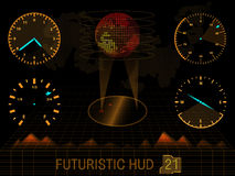 未来派用户界面HUD 库存例证