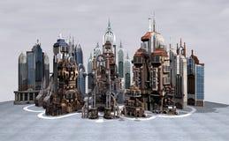未来派的城市 免版税库存图片
